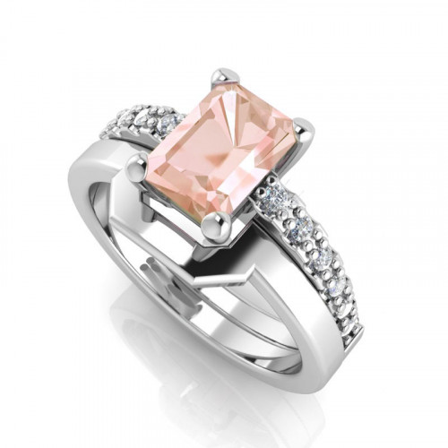 Emerald Cut Weddingset