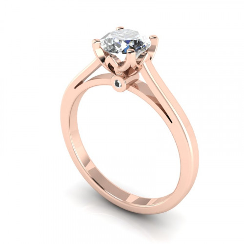 Rose Gold 4-Claw Solitaire