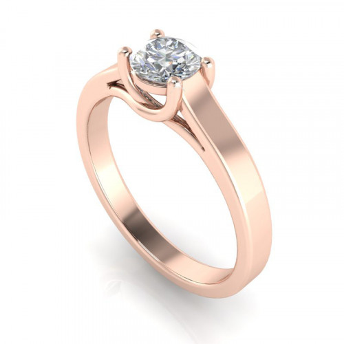 Wide Band Solitaire RIng